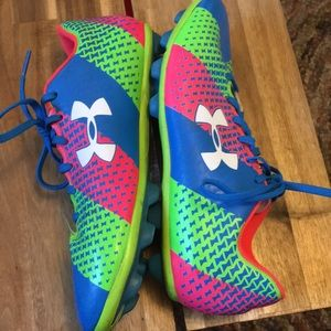 Under Armour Shoes - Under Armour Force soccer cleats in neon colors